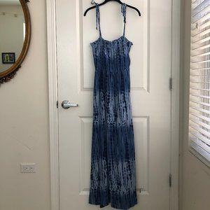 NWOT Blue Tie Dye Maxi Dress